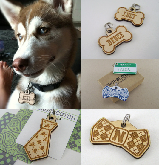 Cropscrotch Dog ID Tag |Vanillapup