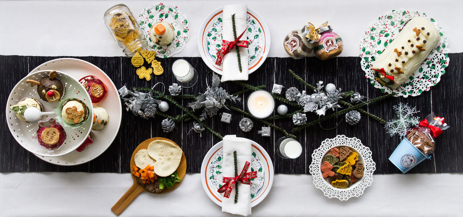 Vanillapup Dog Christmas Feast Table Spread | Vanillapup