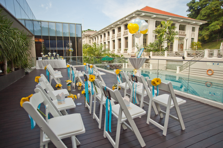 Dog-friendly Wedding Venues Fort Canning Hotel Poolside | Vanillapup