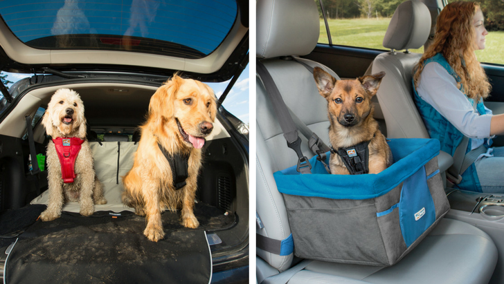 Kurgo Dog Car Booster Seat and Seat Cover | Vanillapup