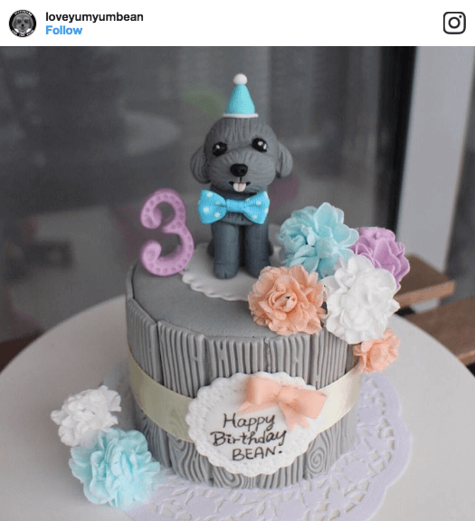 Yum Bean Figurine Dog Cake Vanillapup