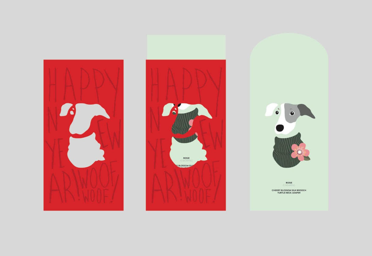 Ginger and Bear UK Red Packets With Sleeve 2 | Vanillapup