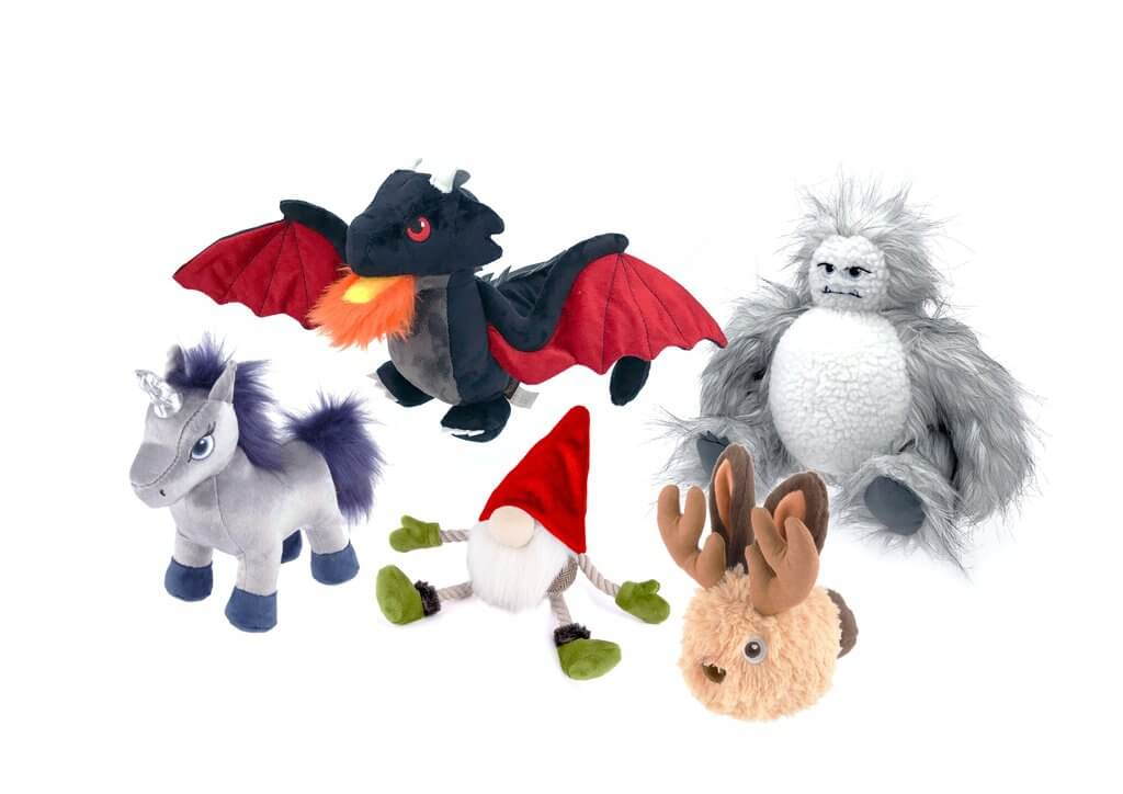 P.L.A.Y. Mythical Creatures Squeaky Toys   Vanillapup